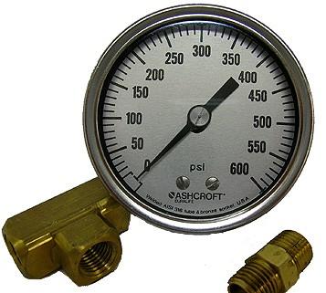 #140-085: GAUGE,600 PSI,CALIBRATED