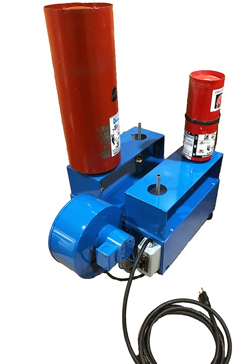 #530-010; HOT AIR CYLINDER DRYER, 4 STATION, BOX TYPE