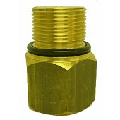 "#100-070: ADAPTER,TEST,1 3/8"",BRASS"