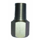 """#100-111: ADAPTER,TEST,3/4""""NGT OVERSIZE,STAINLESS STEEL"""