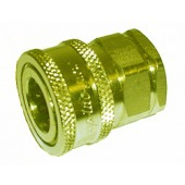 """#110-001: QUICK COUPLER, 1/2""""FNPT, PLATED STEEL"""