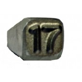 "#230-131-LS-17: STAMP,1/4""CHAR.,2 DIGIT (17) LOW STRESS"