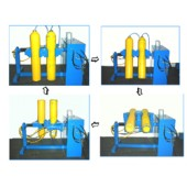 #510-030: AUTOMATED CYLINDER INVERTER - DRYER FOR 2 CYLINDERS
