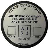#393-019: CUSTOMIZED DOT RE-QUALIFICATION LABEL